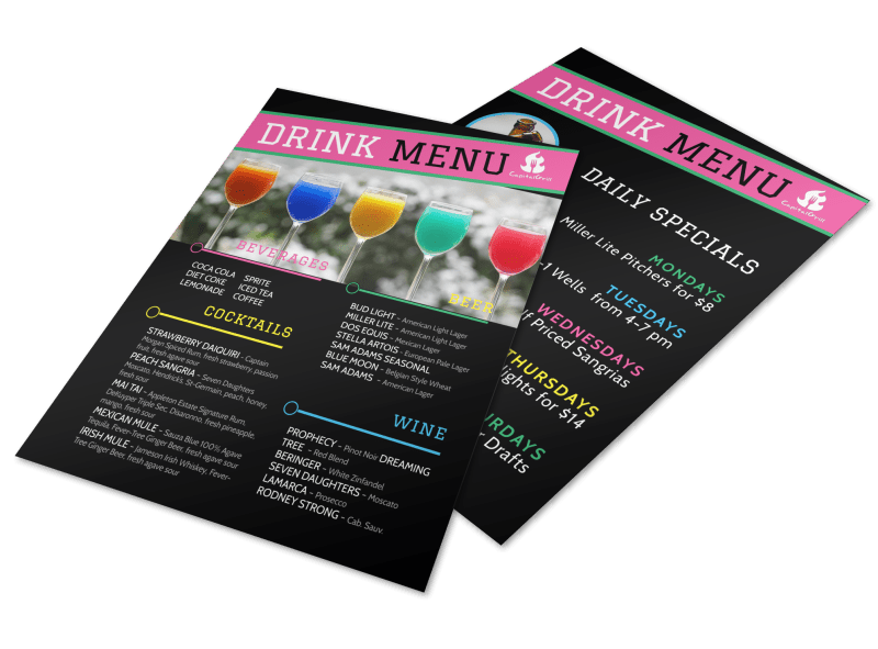 Fun Drink Menu Template Preview 1