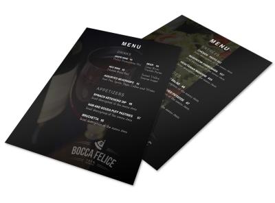 Dark Italian Restaurant Menu Template preview