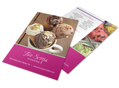 Scoops Ice Cream Menu Template preview
