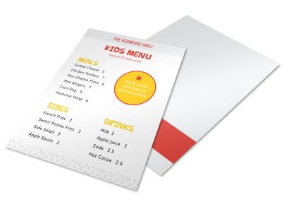 Kids Menu Template preview