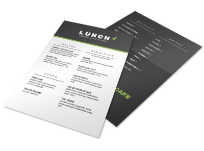 Rocket Lunch Menu Template