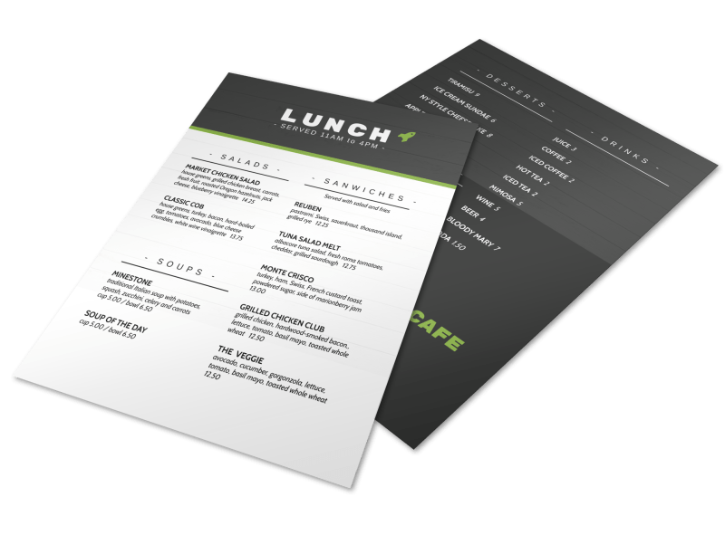 Rocket Lunch Menu Template Preview 1
