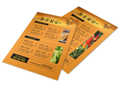 Orange Mexican Restaurant Menu Template preview