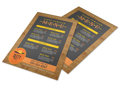 Tasty Mexican Restaurant Menu Template preview