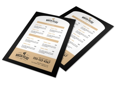 Pizza Menu Template preview