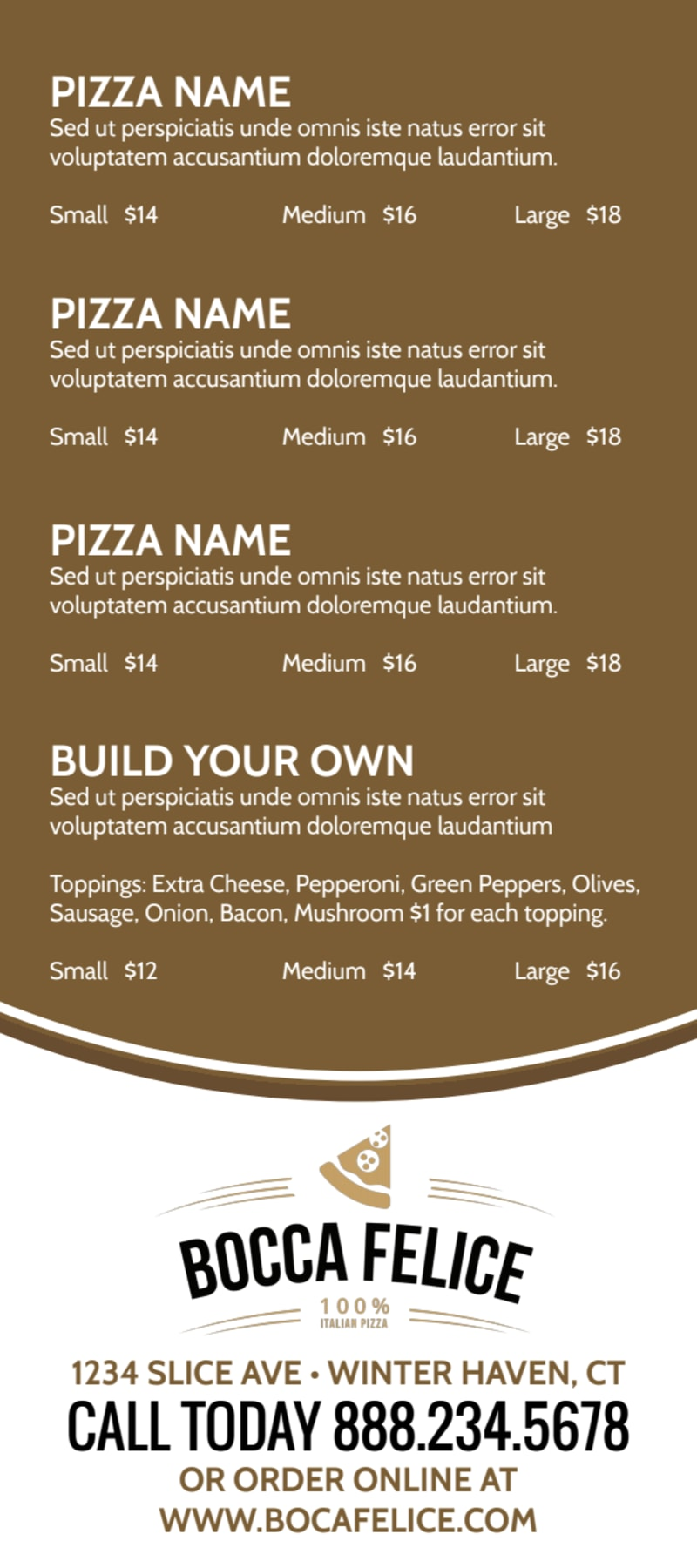 Delivery Pizza Menu Template Preview 3