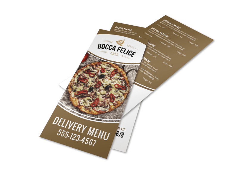 Delivery Pizza Menu Template Preview 1