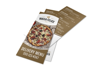 Delivery Pizza Menu Template preview