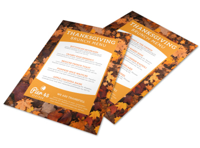 Thanksgiving Brunch Menu Template preview