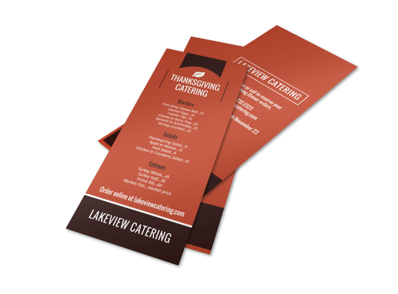 Thanksgiving Catering Menu Template
