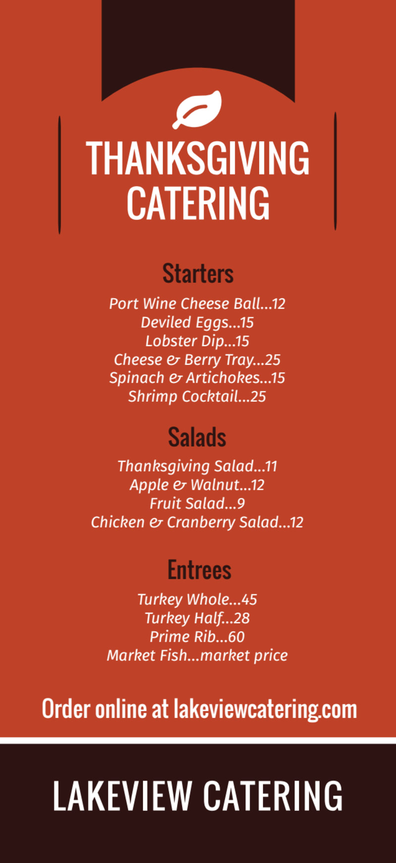 Thanksgiving Catering Menu Template Preview 2