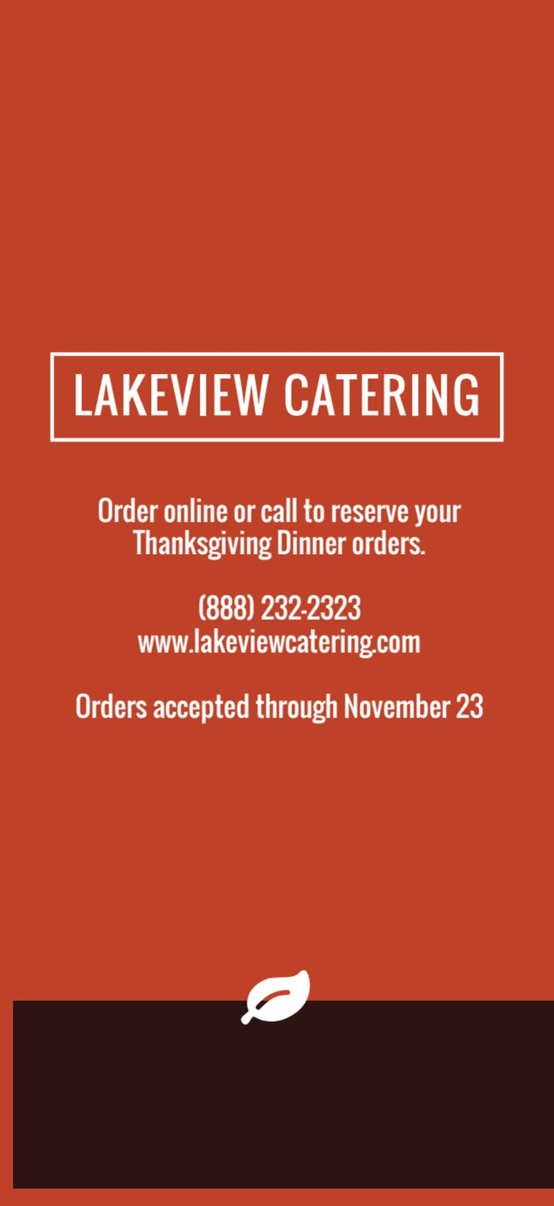 Thanksgiving Catering Menu Template Preview 3