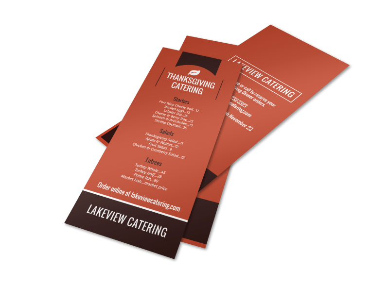 Thanksgiving Catering Menu Template Preview 1