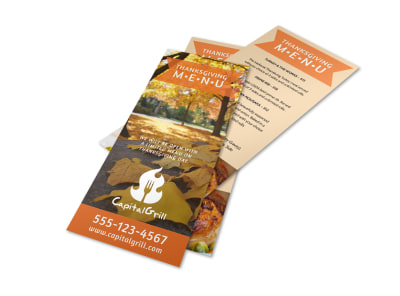 Thanksgiving Menu Template preview