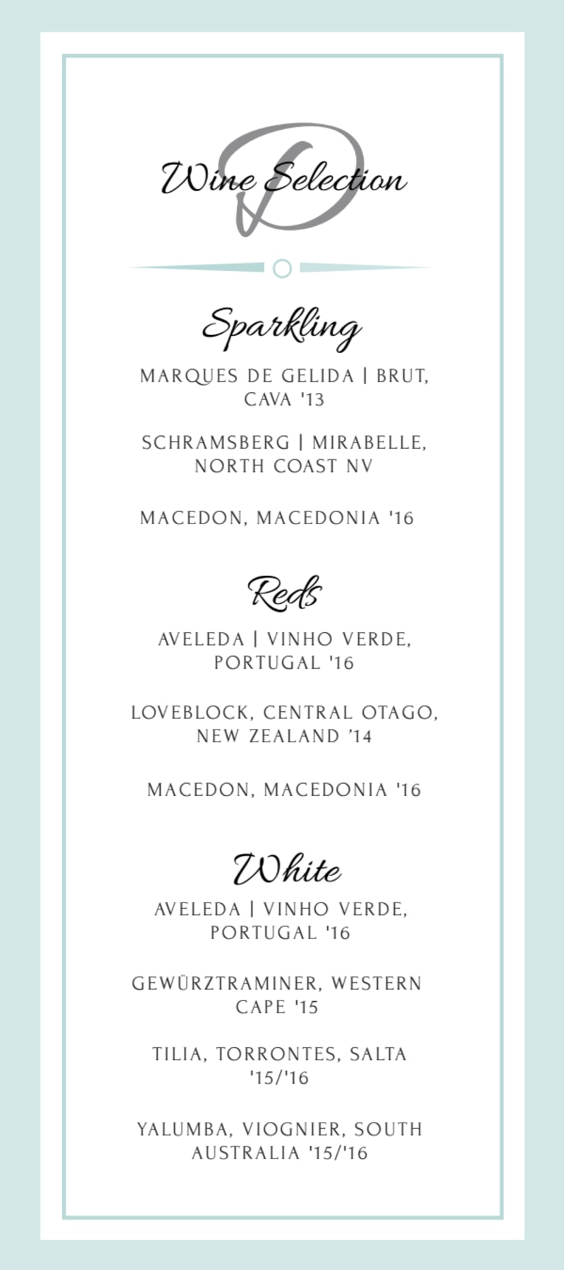 Wedding Menu Template Preview 3