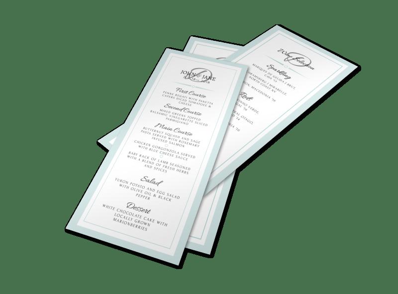 Wedding Menu Template Preview 1