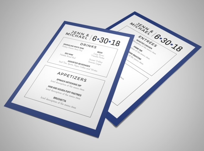 Simple Wedding Menu Template  Mycreativeshop