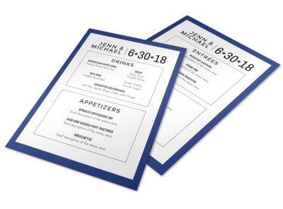 Simple Wedding Menu Template preview