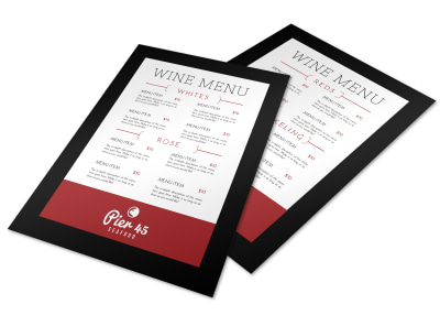 Pier Wine Menu Template