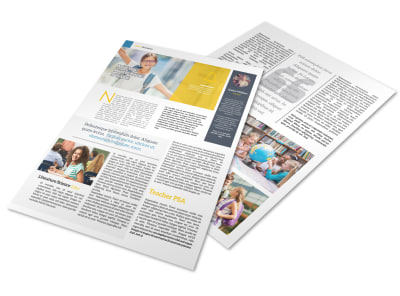 School Newsletter Template preview