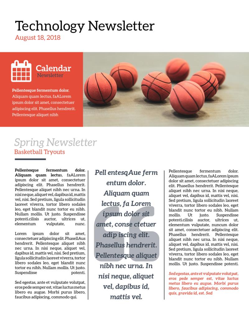 Informative School Newsletter Template