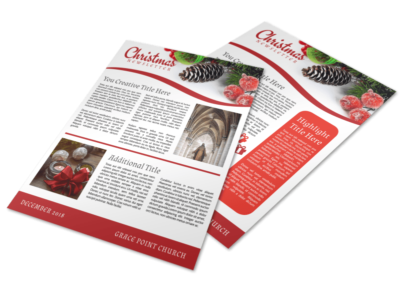 Christmas Newsletter Template Preview 1