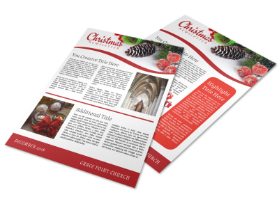 Christmas Newsletter Template preview