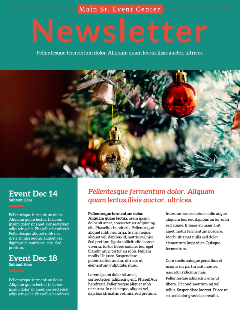 Classic Christmas Newsletter Template Preview 2