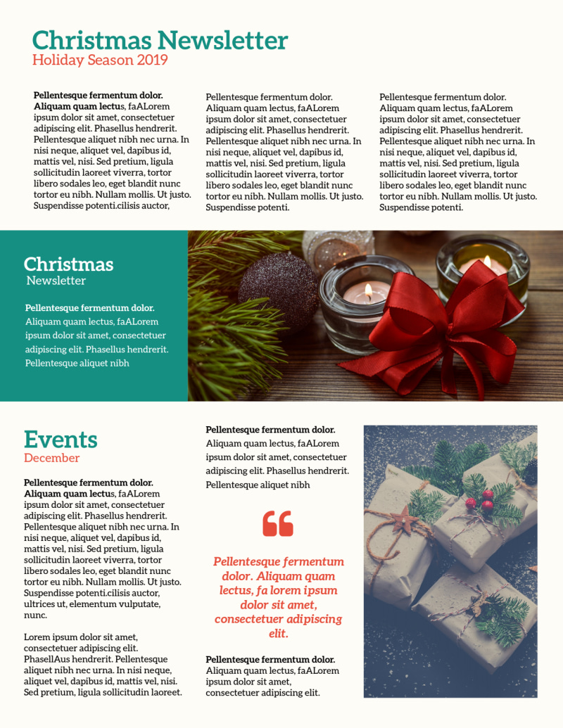 Classic Christmas Newsletter Template Preview 3