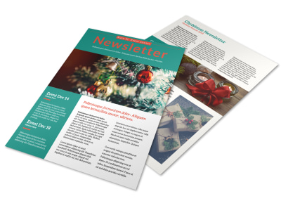 Classic Christmas Newsletter Template preview