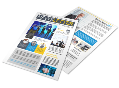 Professional Business Newsletter Template preview