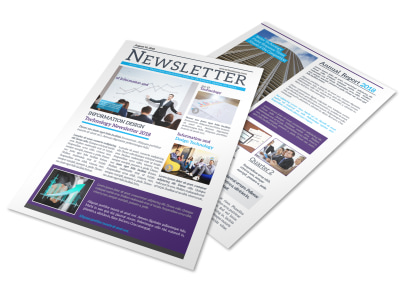 Creative Business Newsletter Template