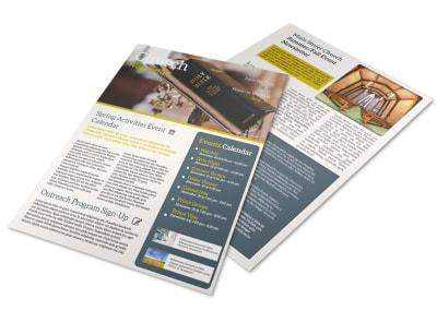 Inspirational Church Newsletter Template preview