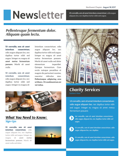 Classic Church Newsletter Template Preview 1