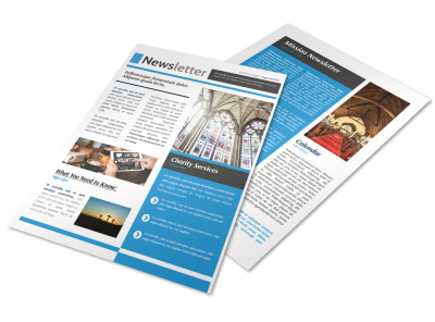 Classic Church Newsletter Template preview