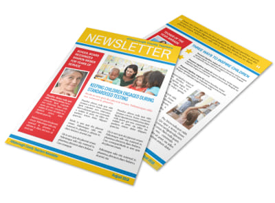 Engaging Teacher Newsletter Template preview