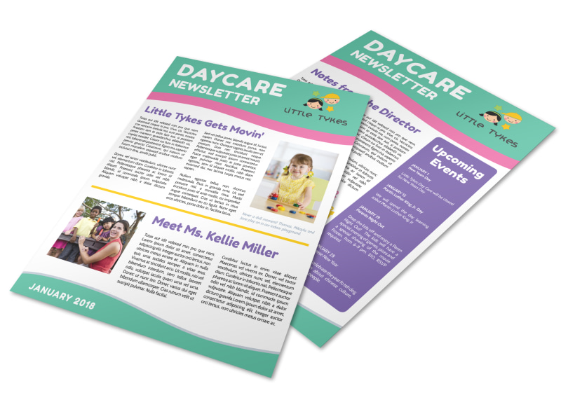 Playful Daycare Newsletter Template Preview 4