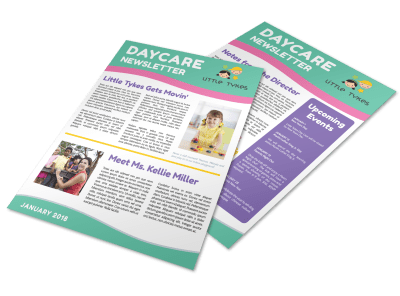 Playful Daycare Newsletter Template Preview 1