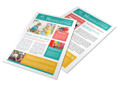 Playtime Daycare Newsletter Template preview
