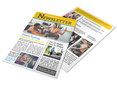 Fitness Training Newsletter Template preview
