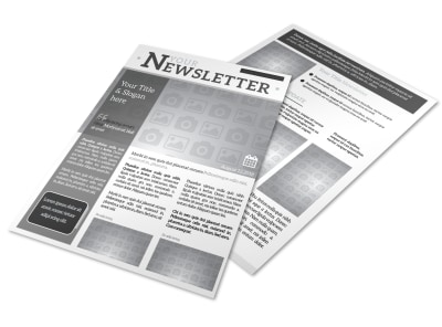 Generic Newsletter Template 17074