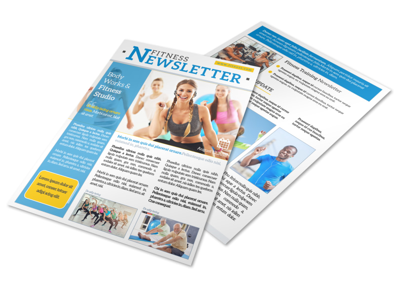 Body Works Fitness Newsletter Template