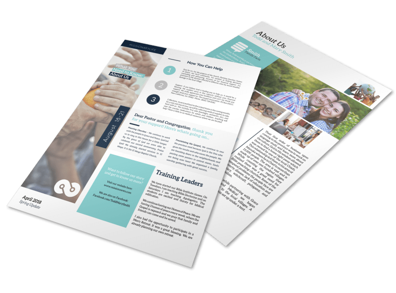 Creative Missionary Newsletter Template Preview 1