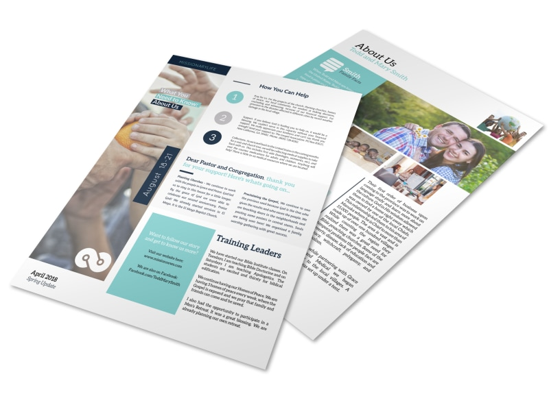 Creative Missionary Newsletter Template MyCreativeShop - Creative newsletter design templates