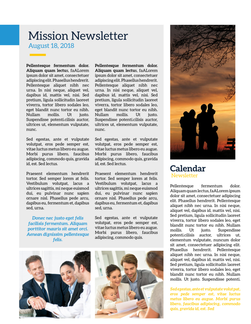 Missionary Newsletter Template Preview 3