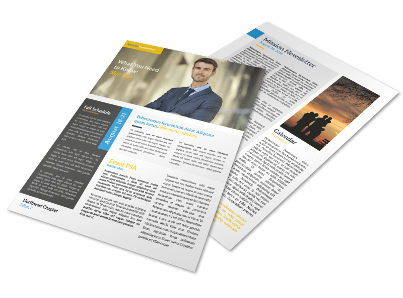 Missionary Newsletter Template Preview 1