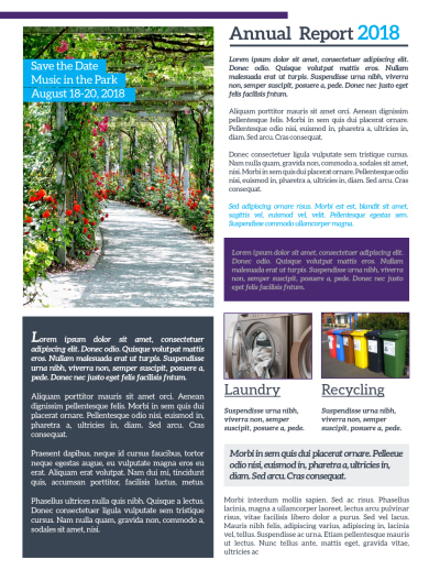 Apartment Newsletter Template Preview 2