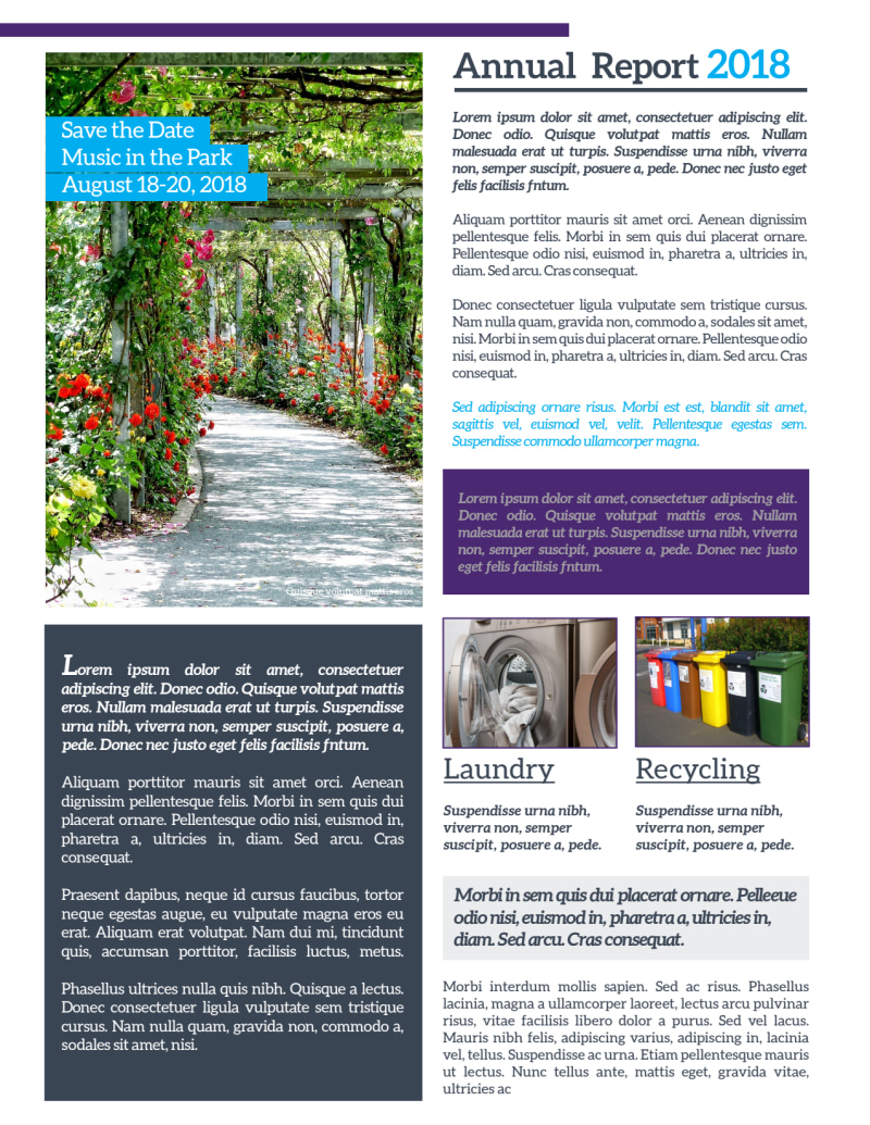 Apartment Newsletter Template Preview 3