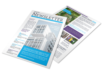 Apartment Newsletter Template preview