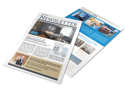 Professional Apartment Newsletter Template preview